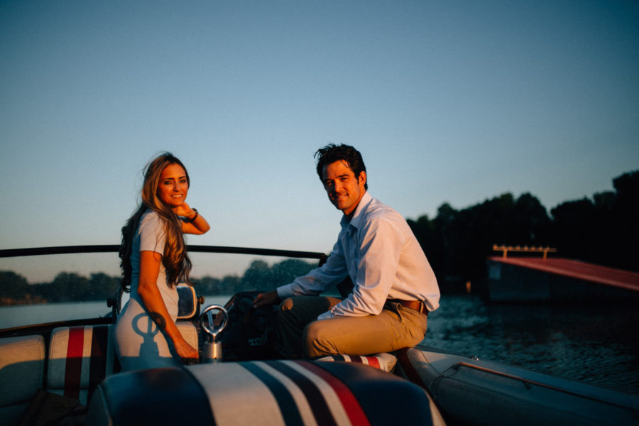 Boat & Lake Engagement | Sara & Caleb