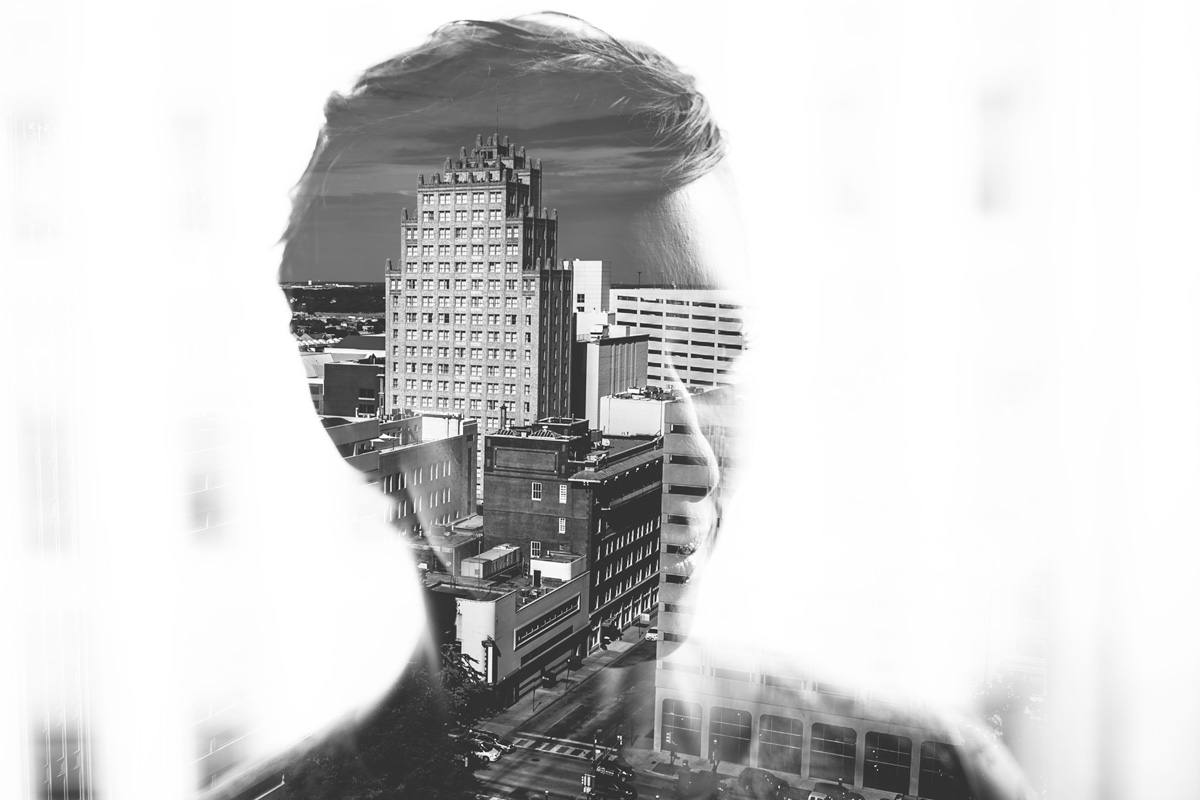 rob august photography smt wedding double exposure