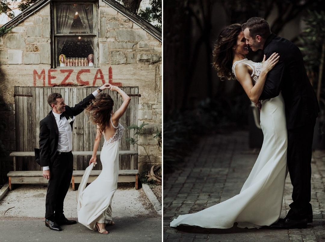 spinning bride during wedding