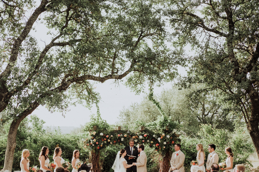outdoor ceremony in austin