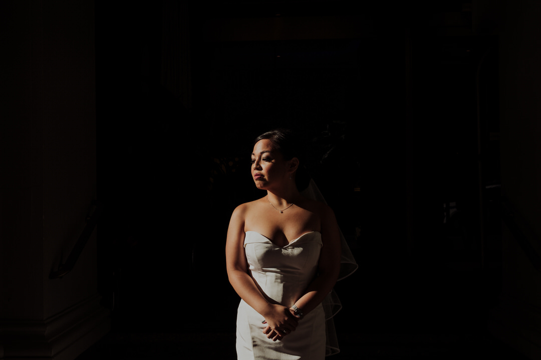 bride portrait before wedding