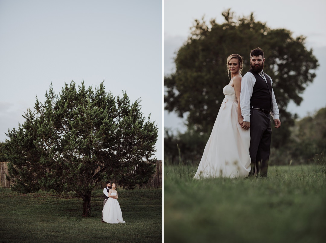 wedding portraits of couple