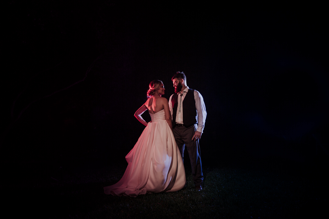 couple portraits at night