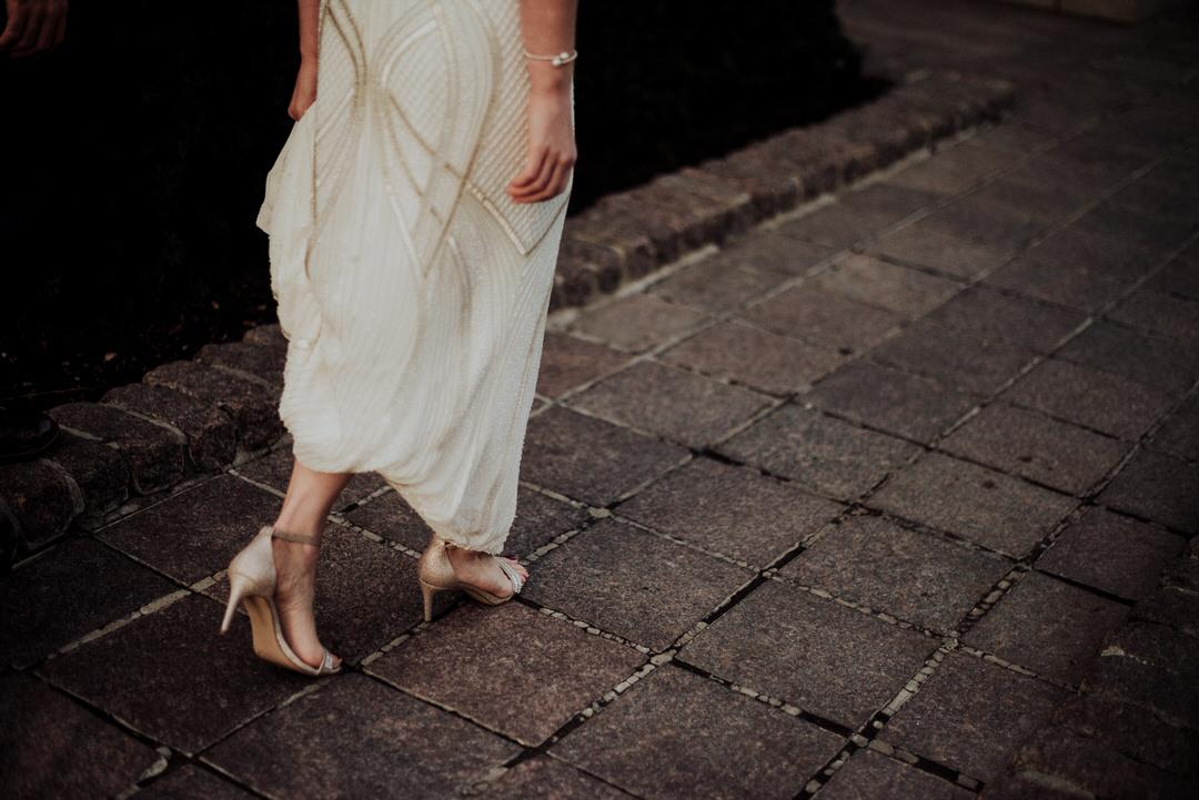walking detail shot