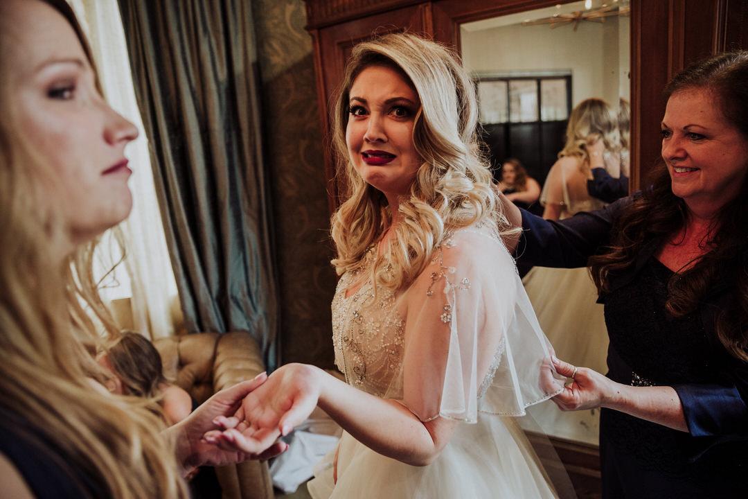 funny bride face