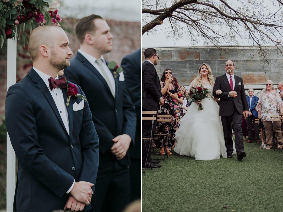 bride entrance at ceremony