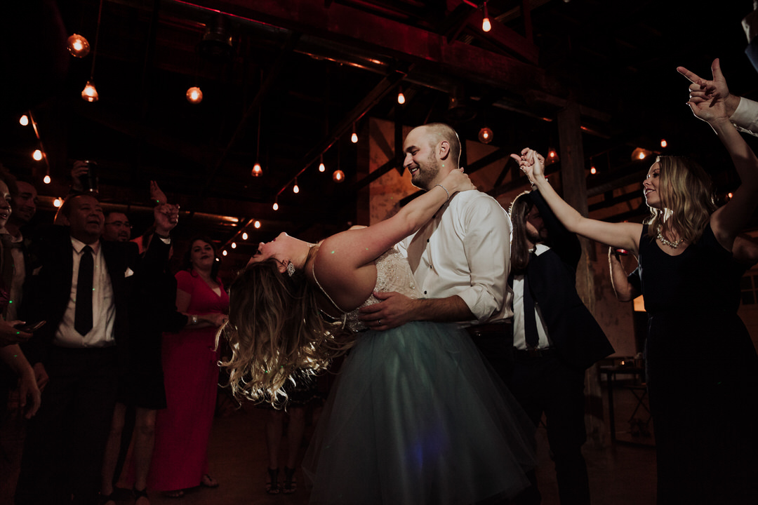 couple dancing at wedding