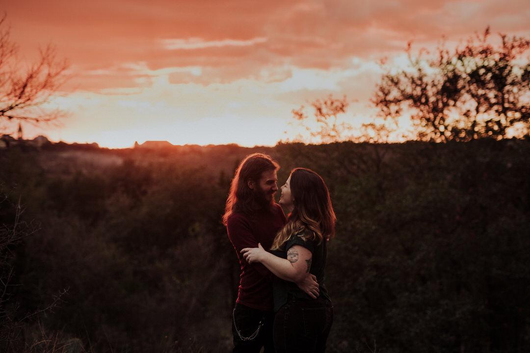 epic sunset shot of couple