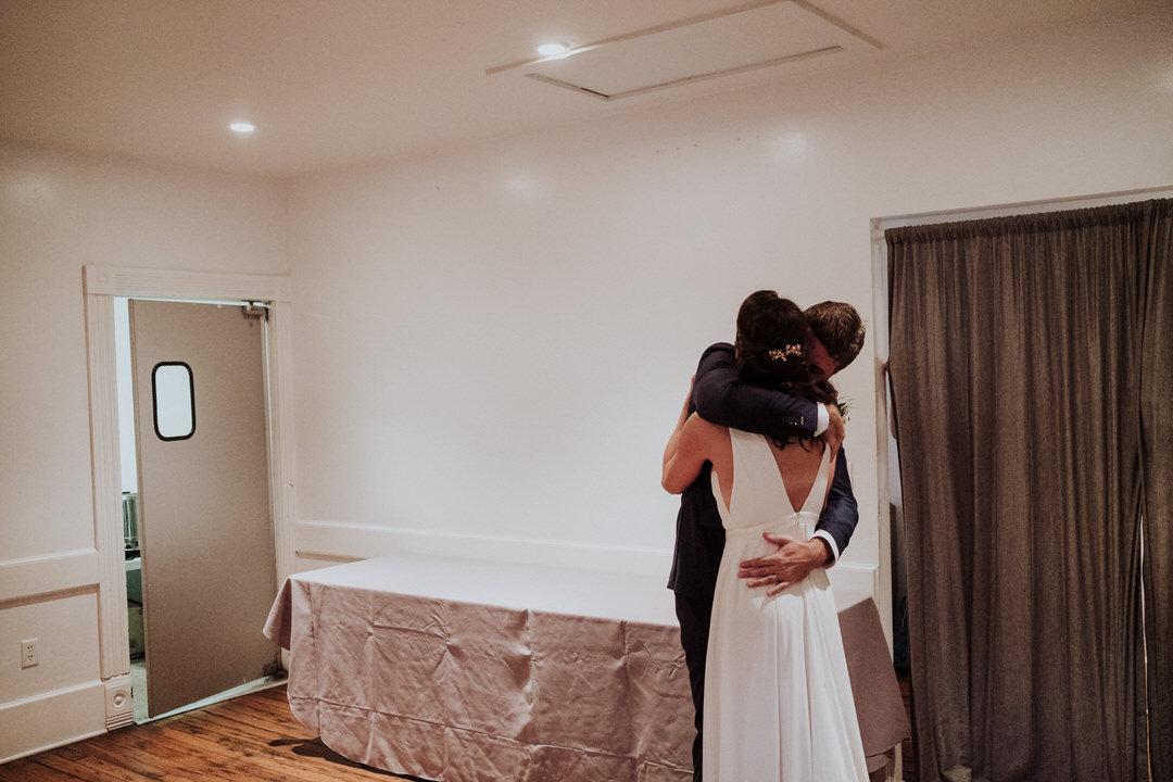 intimate photo of couple post ceremony