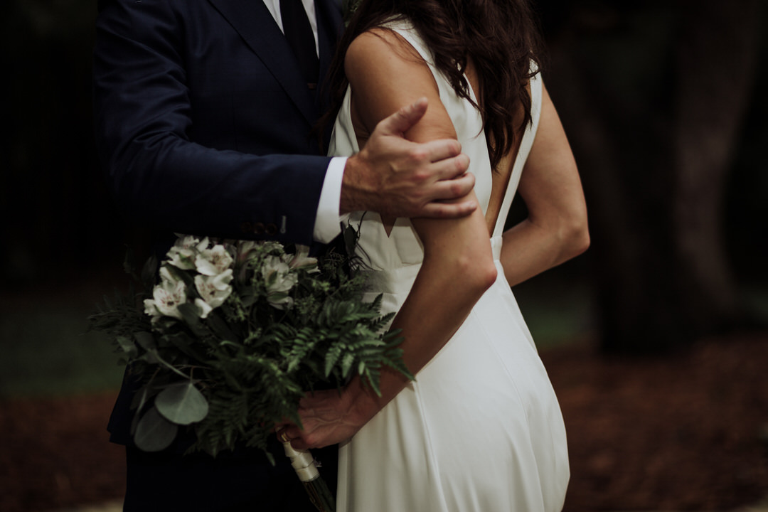 close up of couple's arm at wedding