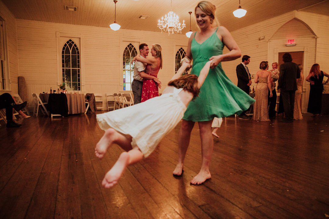 swinging dance of kid during party