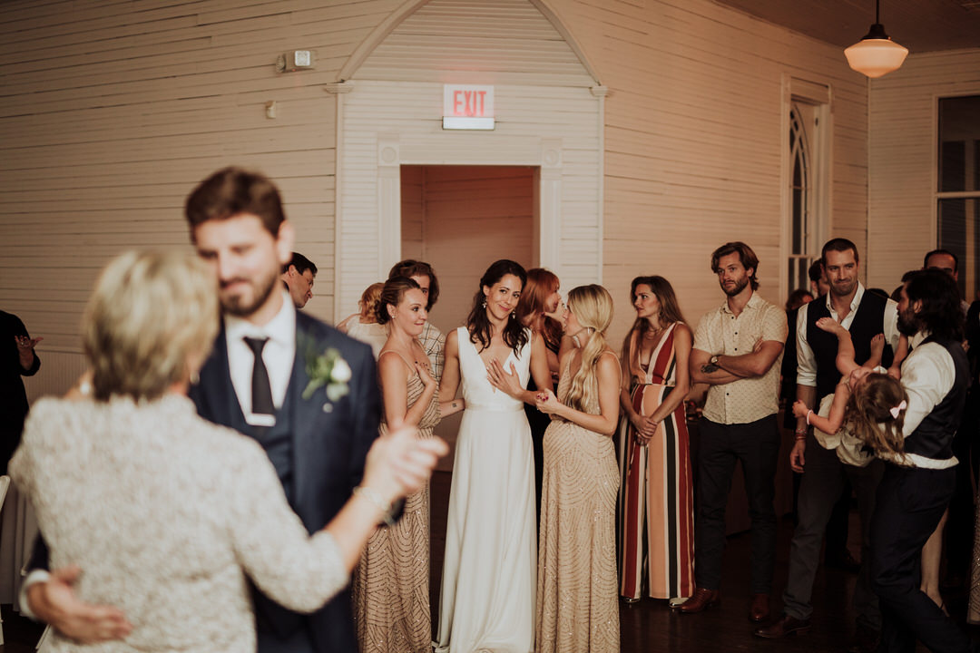 bride seeing groom first dance